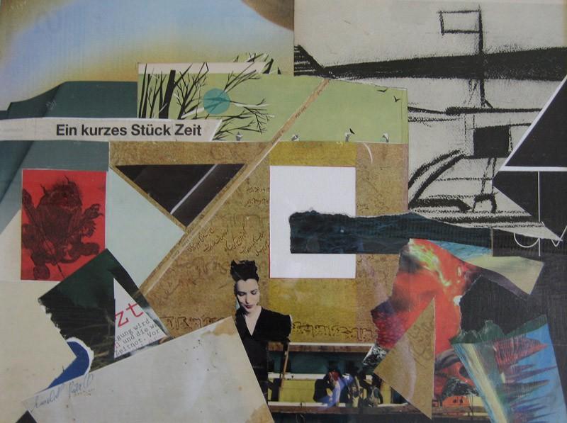 Papiercollage/Acryl: Ein kurzes Stück Zeit - (c) Elisabeth Rütsche